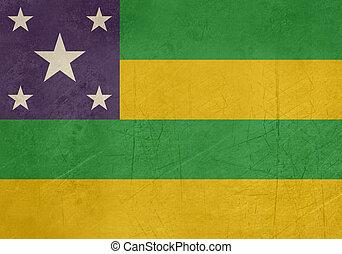 ブラジル, sergipe, 旗, グランジ, 州
