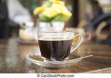 ブラックのコーヒー