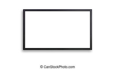 ブランク, の, led 表示, ∥で∥, 白いスクリーン