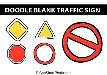ブランク, 交通標識