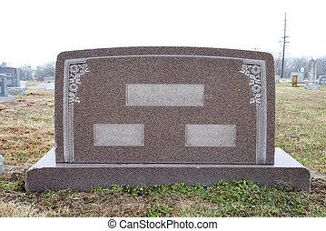 ブランク, 墓碑, 広く