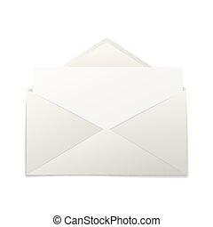 ブランク, 封筒, ペーパー, シート, 現実的
