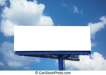 ブランク, 広告板