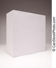 ブランク, 白, 箱, 上に, 灰色
