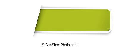 ブランク, 緑, ラベル