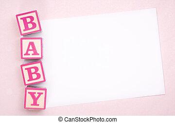 ブランク, 赤ん坊, 発表