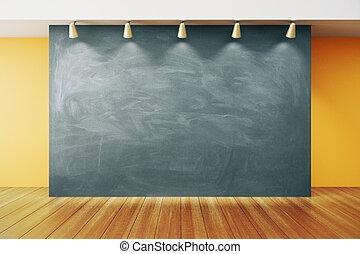 ブランク, 黒板, 中に, ∥, 空, 内部