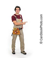 ブランク, handyman, 指すこと, スペース