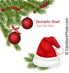 ブランチ, 帽子, 木, santa
