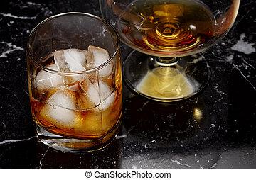 ブランデー, ウイスキー