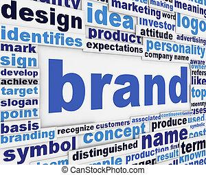 ブランド, スローガン, ポスター, 概念