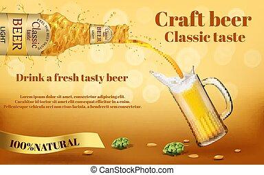 ブランド, 現実的, ビール, ベクトル, 昇進, 旗
