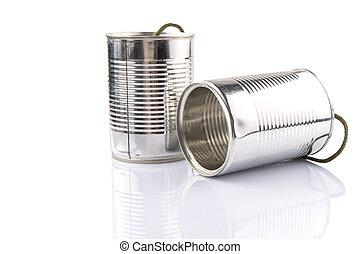 ブリキ缶電話