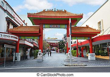 ブリスベーン, chinatown, オーストラリア, -queensland