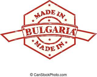 ブルガリア, 作られた, 赤, アイコン, シール