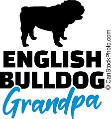 ブルドッグ, おじいさん, 英語