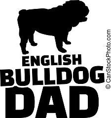 ブルドッグ, お父さん, 英語