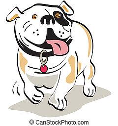 ブルドッグ, グラフィックアート, 犬, クリップ