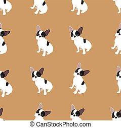 ブルドッグ, ベクトル, 犬, フランス語