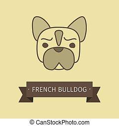 ブルドッグ, ロゴ, 品種, 犬, フランス語