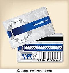 ブルーリボン, デザイン, 忠誠, カード