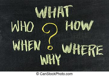 ブレーンストーミング, 決定, 質問, 作成