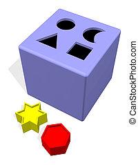 ブロック, おもちゃ, 穴