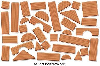ブロック, 木製である, 大ざっぱに, 項目, 建物, 取り決められた, おもちゃ