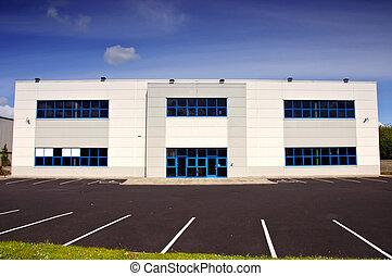 ブロック, 白, coporate, 賃貸料, オフィス