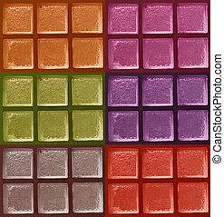 ブロック, 色, 装飾用である, ガラス