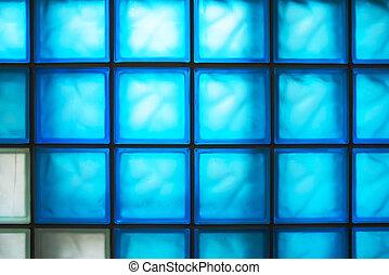 ブロック, 色, 霜, 手ざわり, ガラス, 半透明, 壁