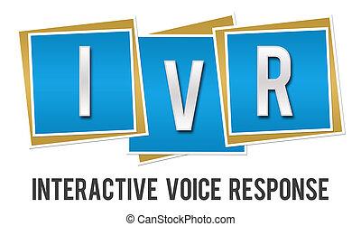 ブロック, -, ivr, 対話型である, 応答, 声, 青
