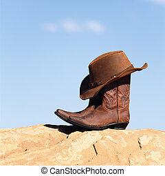 ブーツ, そして, 帽子, 屋外