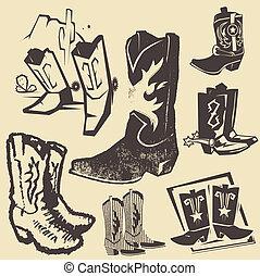 ブーツ, コレクション, カウボーイ