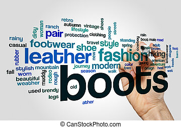 ブーツ, 単語, 雲, 概念