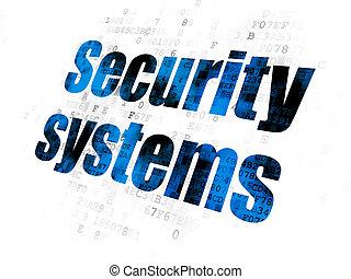プライバシー, システム, 背景, デジタル, セキュリティー, concept: