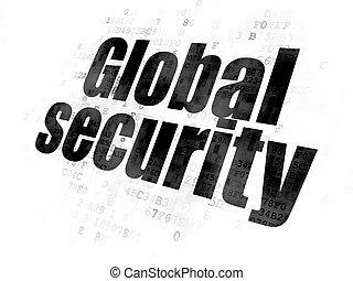 プライバシー, 世界的である, 背景, デジタル, セキュリティー, concept: