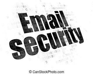 プライバシー, 背景, デジタル, セキュリティー, 電子メール, concept: