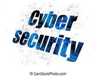 プライバシー, cyber, 背景, デジタル, セキュリティー, concept: