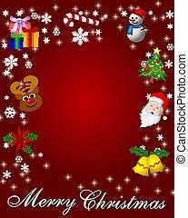 プラカード, カード, 背景, クリスマス, 陽気