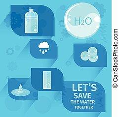 プラカード, 扇動, eco, 一緒に, 水, lets, を除けば
