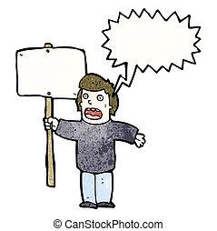 プラカード, 政治的である, 抗議者