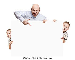 プラカード, 父, 印, 息子, 保有物, ブランク, ∥あるいは∥