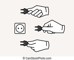 プラグ, 電力, アイコン