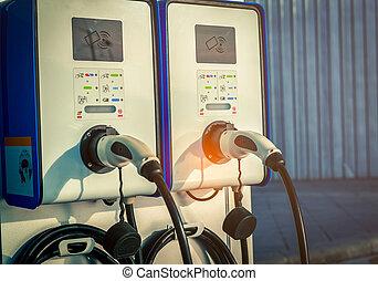 プラグ, power., 下部組織, 電気 車, エネルギー, コマーシャル, コインによって作動する, point., motor., policy., きれいにしなさい, 車, station., 充満