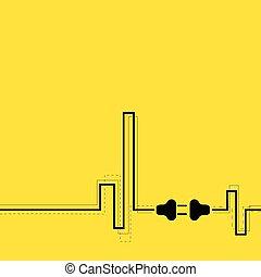 プラグ, socket., 抽象的, 背景