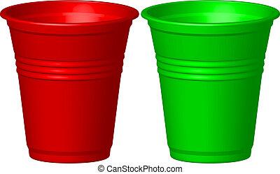 プラスチックのカップ
