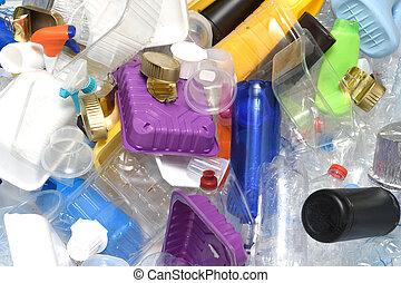 プラスチック, 終わり, リサイクル, の上