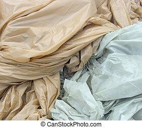 プラスチック, 青, 産業, 包まれた, カバー, かけられた, ピンク