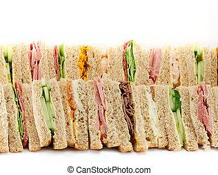 プラター, 三角, サンドイッチ